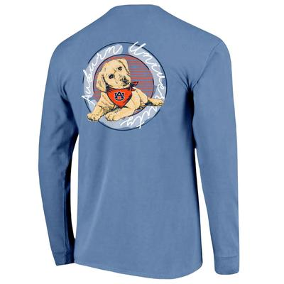 Auburn Good Dog Comfort Color Women's Long Sleeve Tee