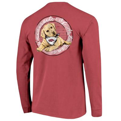 Arkansas Good Dog Comfort Color Women's Long Sleeve Tee