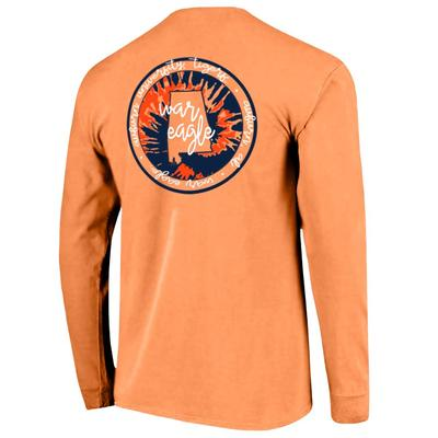 Auburn Circle Tie Dye State Women's Comfort Colors Long Sleeve Tee