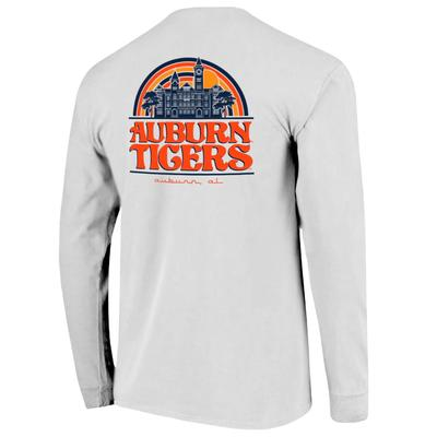 Auburn Campus Rainbow Comfort Colors Women's Long Sleeve Tee
