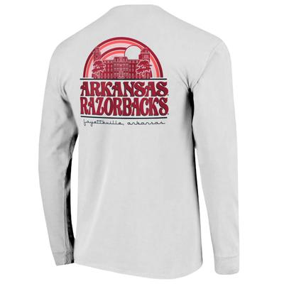 Arkansas Campus Rainbow Comfort Colors Women's Long Sleeve Tee
