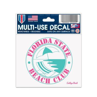 Florida State Beach Club Spring Break Decal