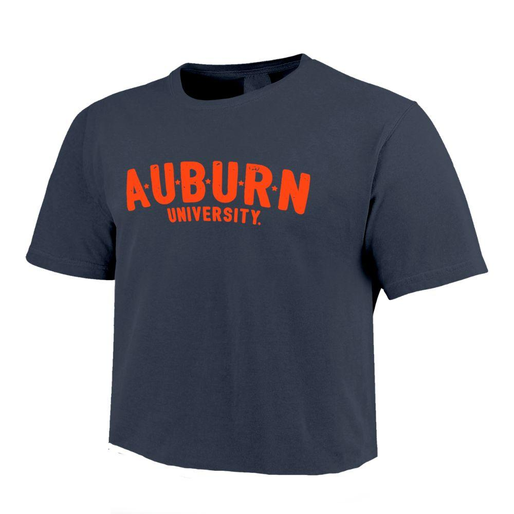 Auburn Stars Short Sleeve Crop Top