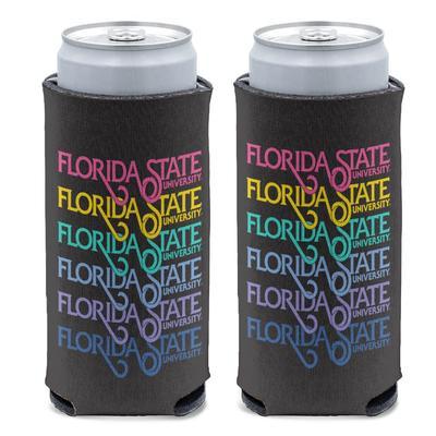 Florida State Retro Script Slim Can Cooler