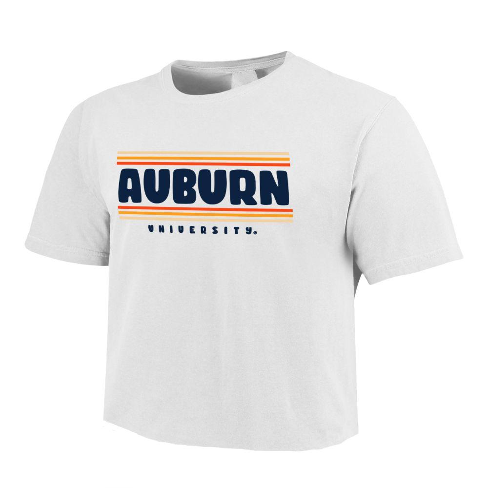 Auburn Retro Short Sleeve Crop Top