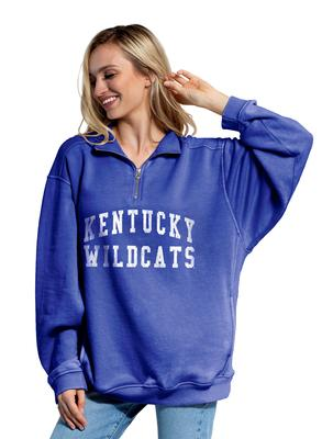 Kentucky Chicka-D Everybody Quarter Zip Distressed Pullover