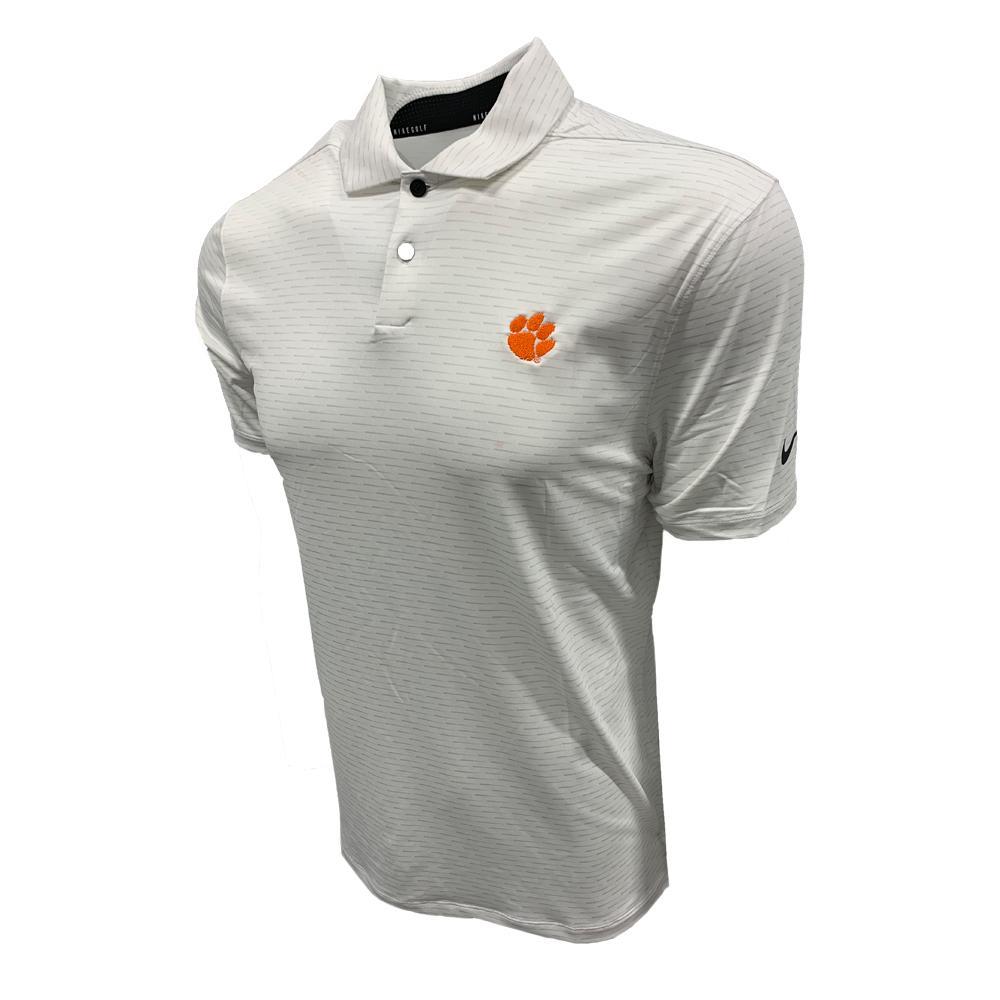 Clemson Nike Golf Men's Vapor Micro Stripe Polo