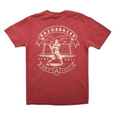 Arkansas Baseball Batting Clean Up Comfort Colors Tee
