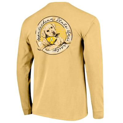 Appalachian State Good Dog Comfort Color Women's Long Sleeve Tee