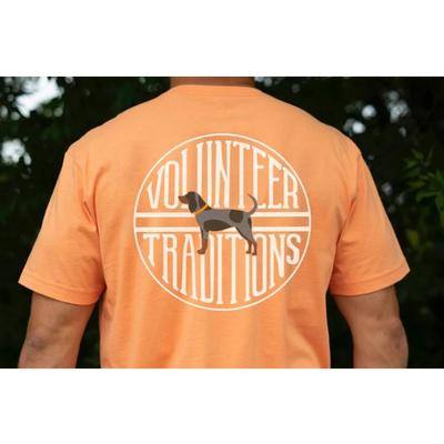 Tennessee Volunteer Traditions Bluetick Stamp Orange Pocket Tee