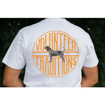 Tennessee Volunteer Traditions Bluetick Stamp White Pocket Tee