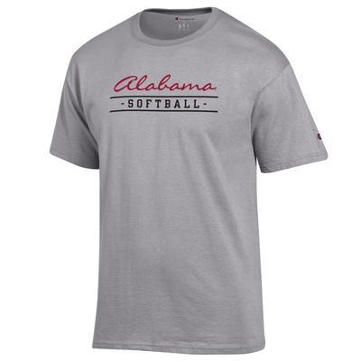 Alabama Champion Bar Script Softball Tee