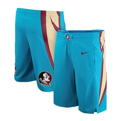 Florida State Seminoles Nike Turquoise Replica Basketball Shorts