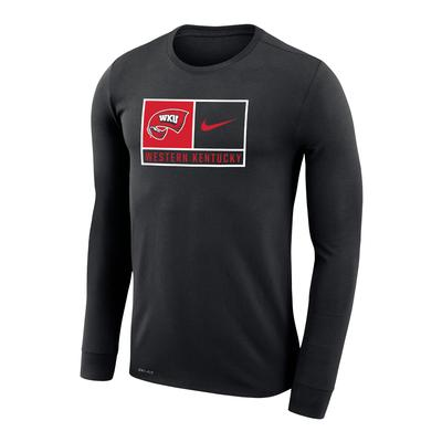Western Kentucky Nike Men's Dri-Fit Legends Logo Long Sleeve Tee