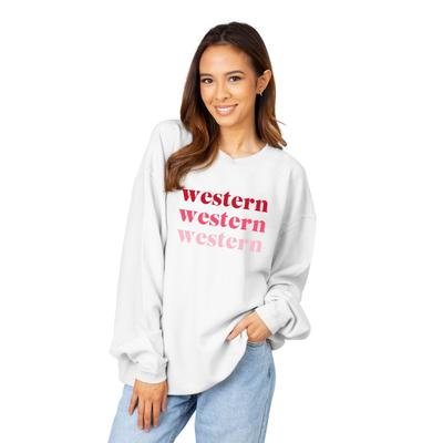 Western Kentucky  Chicka-D Repeating Corded Sweatshirt