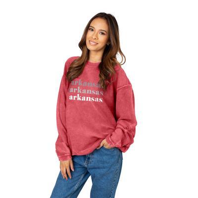 Arkansas Chicka-D Repeating Corded Sweatshirt