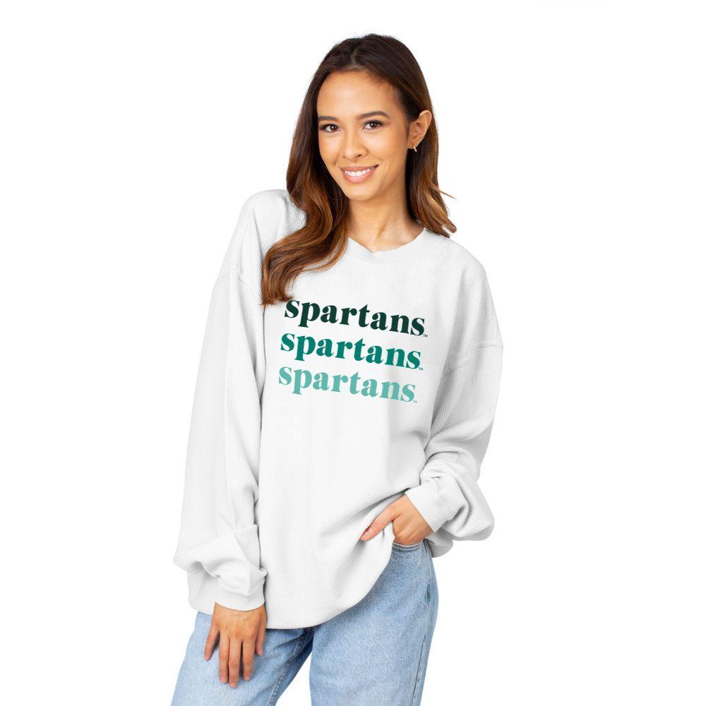 Michigan State Chicka- D Repeating Corded Sweatshirt