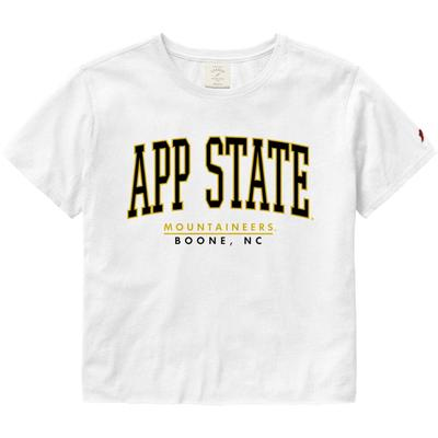 Appalachian State League Women's Clothesline Crop Tee