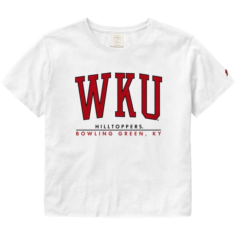 Western Kentucky League Women's Clothesline Crop Tee