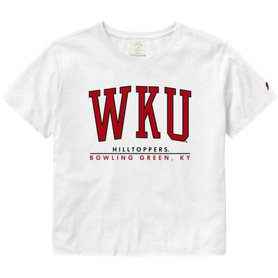 Western Kentucky League Women's Clothesline Crop Tee