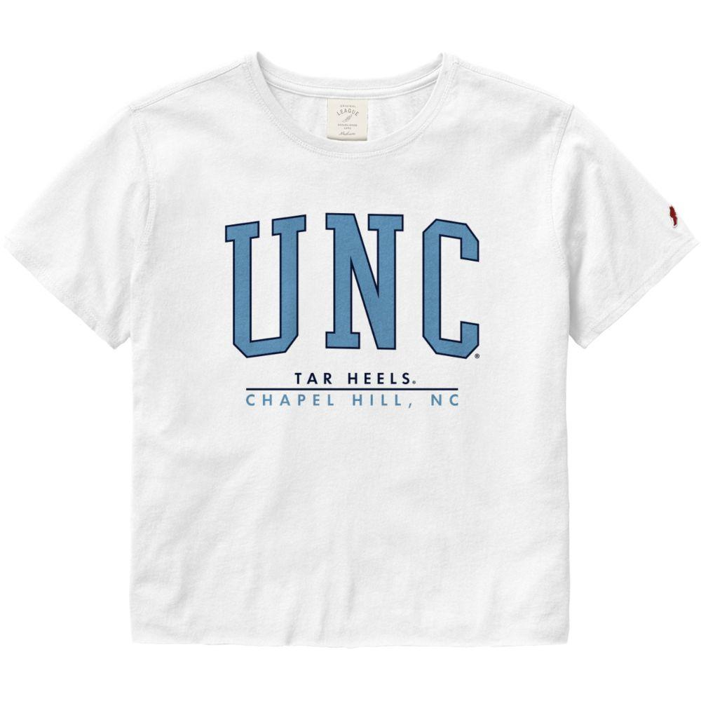 Unc League Women's Clothesline Crop Tee