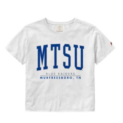 MTSU League Women's Clothesline Crop Tee