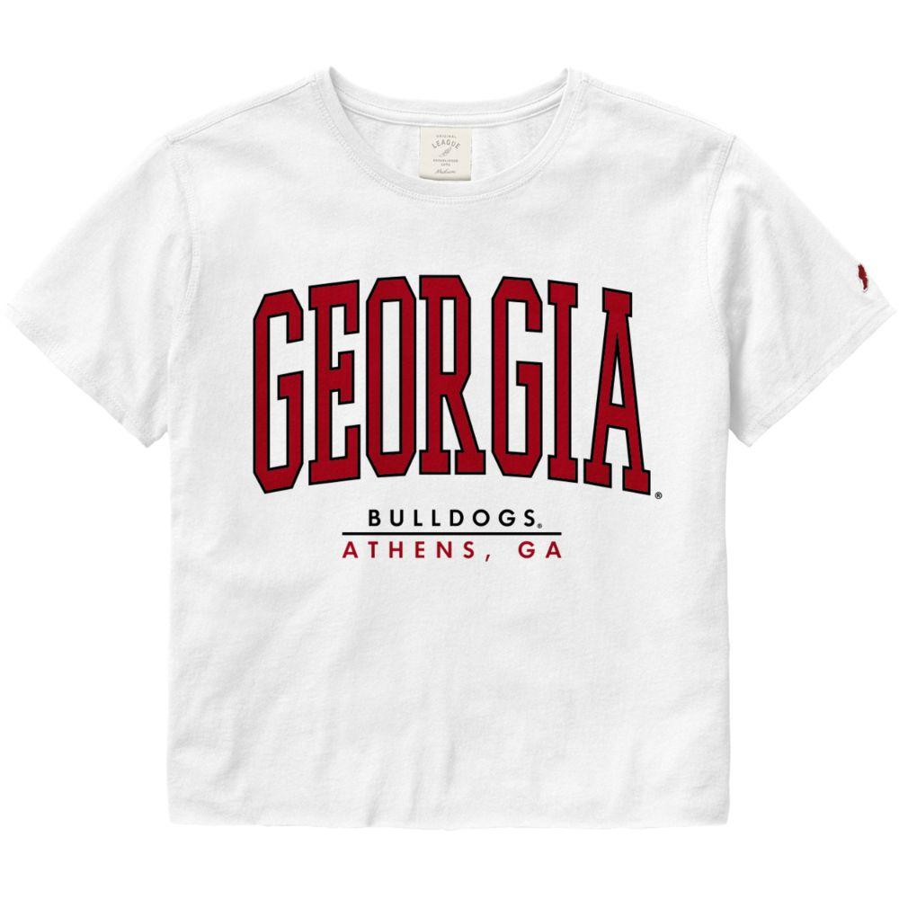 Georgia League Women's Clothesline Crop Tee