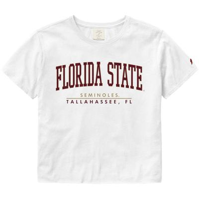 Florida State League Women's Clothesline Crop Tee