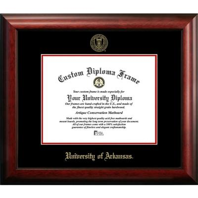 University of Arkansas Satin Diploma Frame