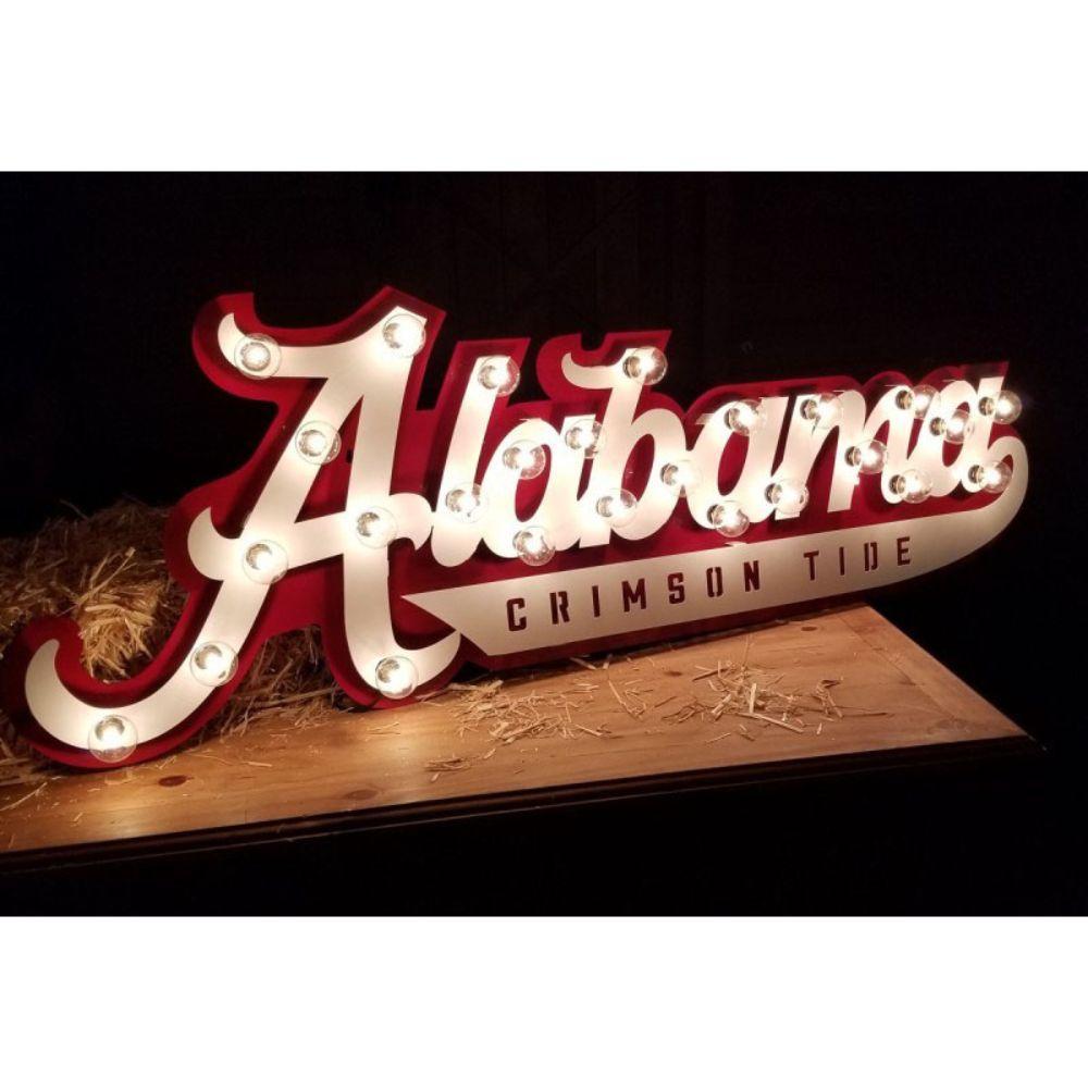 Alabama 3d Lit Metal Sign