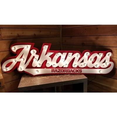 Arkansas 3D Lit Metal Sign