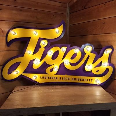 LSU 3D Lit Metal Sign