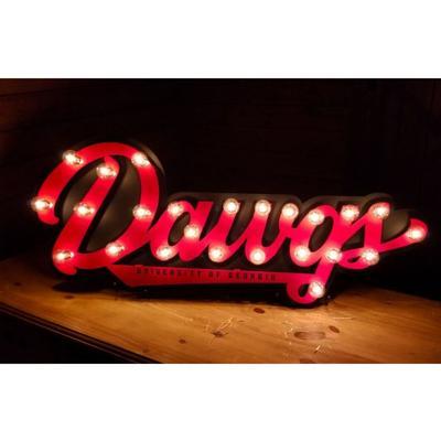 Georgia Bulldogs 3D Lit Metal Sign