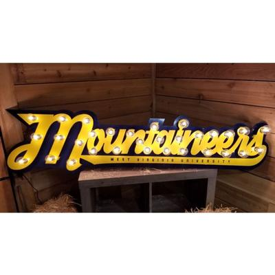 West Virginia 3D Lit Metal Sign