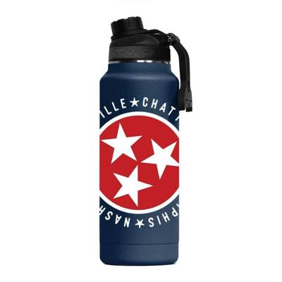Tennessee Tri Star Cities ORCA Hydra 34 oz Bottle