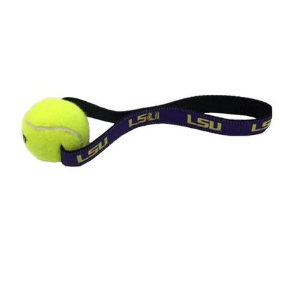 Louisiana State University Tennis Pull Dog Toy