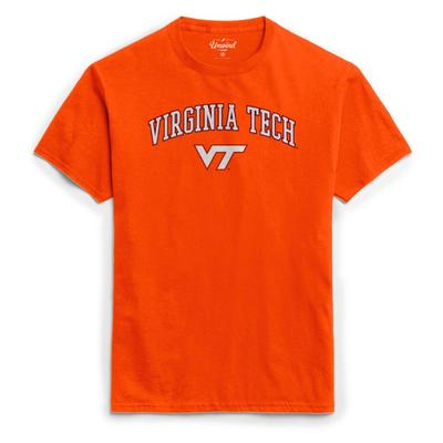 Virginia Tech League Women's Puff Arch Logo Tee