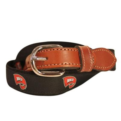 Western Kentucky Belt with Leather Buckle