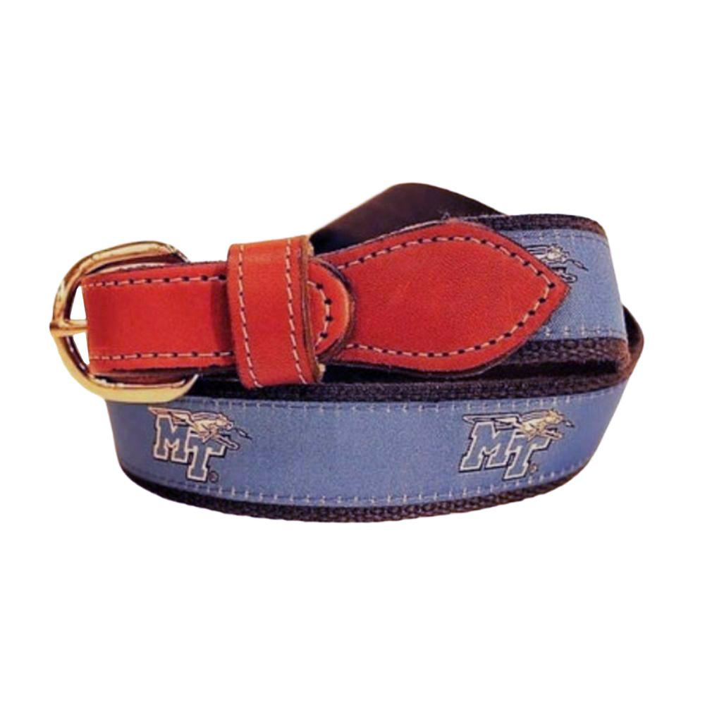 Mtsu Belt With Leather Buckle