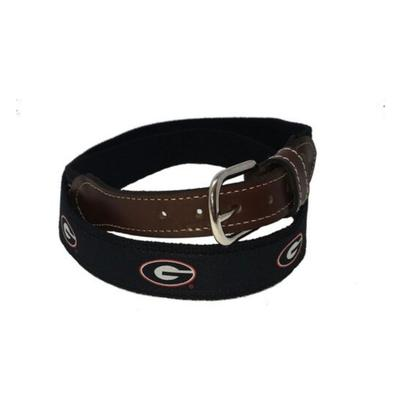 Georgia Belt with Leather Buckle