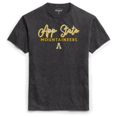 Appalachian State League Women's Puff Girly Script Tee