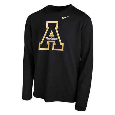 Appalachian State Nike Youth Long Sleeve Dri-FIT Legend Tee