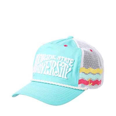Florida State Zephyr Beach Line Rope Trucker Adjustable Hat