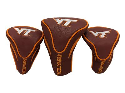 Virginia Tech 3 Pack Contour Headcovers