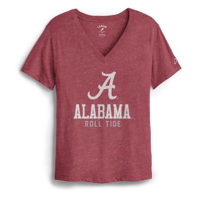 Alabama League Women's Boyfriend Block V Neck
