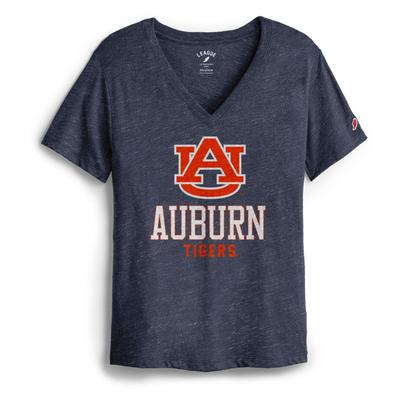 Auburn League Women's Boyfriend Block V Neck