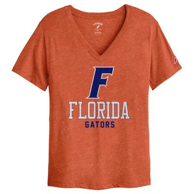 Florida League Women's Boyfriend Block V Neck