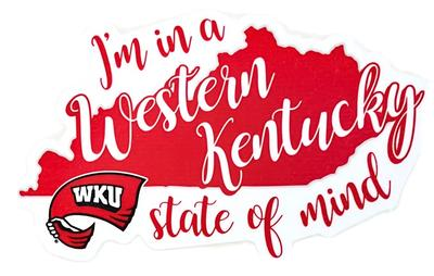 Western Kentucky State of Mind Decal