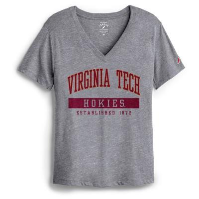 Virginia Tech League Women's Intramural Boyfriend V Neck Tee