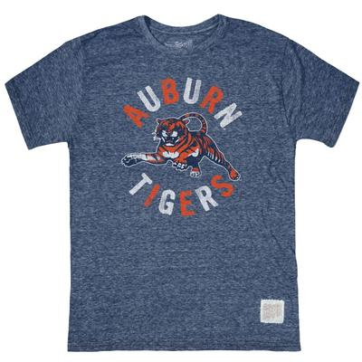 Auburn Retro Brand Leaping Tiger Streaky Tee
